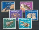 EC - 1966 - 1208-1213 - WELTRAUM  - SPACE - SATZ KOMPLETT  - MNH - POSTFRISCH - **   - ECUADOR - EQUATEUR - Equateur