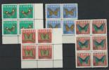 EC - 1964 - 1140-1142 - SCHMETTERLINGE - MARIPOSAS - BUTTERFLY-  - SATZ KOMPLETT  - MNH - POSTFRISCH - **   - ECUADOR - Equateur