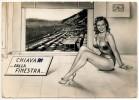 RAGAZZA IN COSTUME CHIAVARI DALLA FINESTRA 1956 - Pin-Ups