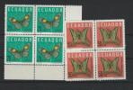 EC - 1964 - 1141-1142 - SCHMETTERLINGE - MARIPOSAS - BUTTERFLY-   - MNH - POSTFRISCH - **   - ECUADOR - EQUATEUR - Equateur