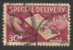 United States, 30 C. 1957, Sc # E21, Mi # 683, Used. - Special Delivery, Registration & Certified