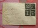 Deux (2) Lettres Tag Der Schweizer Spende 3.III.1945 Avec Blocs De Quatre / Rares, 1 Recommandée - Covers & Documents