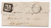 1859 - LETTRE TAXEE à CHATEAUBRIANT (LOIRE ATLANTIQUE) Avec TIMBRE TAXE N°2 TYPE II A - Marcophilie (Lettres)