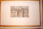 JEAN LEPAUTRE ARCHITECTE LOUIS XIV GRAVURE Decloux Doury 1880 ETS EAU-FORTE ETCH RADIERUNG ARCHITECTURE R142 - Architecture
