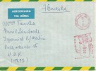 BRASIL CC FRANQUEO MECANICO AV EDUARDO MAPA BANDERA 1968 - Brasil
