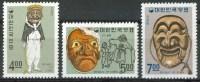 1967 Corea Del Sud  Maschere  Masks Masques Costumi Costumes Set MNH** Fo131 - Trindad & Tobago (1962-...)