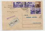 Intero Postale - 3 Lire Con Coppia 50 Cent E Repubbliche 5 Lire Raccomandata - Collections