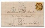 1880 - LETTRE COMMERCIALE De LILLE (NORD) Pour BRUXELLES - Marcophilie (Lettres)
