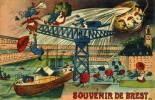 BREST - FINISTERE   (29)  - PEU COURANTE CPA HUMORISTIQUE DE 1928. - Brest