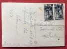 TRIESTE AMG FTT L. 5 Coppia LAVORO SU CARTOLINA PER FORLI' - 1953 - Storia Postale