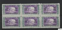 EC - 1950 - ALFABETIZACION - AUFDRUCK - BLOCK OF 6  -MNH -POSTFRISCH - ** - ECUADOR - EQUATEUR - Equateur
