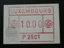 Carte Maximum Card Vignette FRAMA ATM Luxembourg Ref 61345 - Cartes Maximum