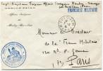 MAROC LETTRE EN FRANCHISE MILITAIRE DU CERCLE ZAIAN AFFAIRES INDIGENES DE MOULAY-BOU-AZZA DEPART OUED-ZEM 7-2-35 POUR... - Morocco (1891-1956)