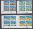 Tuvalu 1998 Greenpeace / Corals 4v Bl Of 4 (corners)* Mnh (25301) - Tuvalu