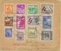 """LBL33D-  PARAGUAY FDC SÉRIE """"HOMENAJE A LA ARMADA"""" SUR LETTRE RECOMMANDÉE POUR BS.AIRES 20/2/1945 - Paraguay"""