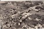 92 - Suresnes : Vue Aérienne - Pont Sur La Seine Et à Gauche : Les Ecluses - CPSM Au Format 9 X 14 écrite - Suresnes
