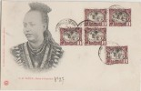 CPA ETHIOPIE Royalty La Reine D'Abyssinie TAÏTOU 5 Timbres Stamps 1900 - Ethiopia