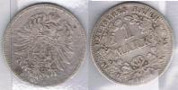 ALEMANIA DEUTSCHES REICH MARK 1876 C PLATA SILBER Za - 1 Mark