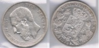 BELGICA BELGIQUE 5 FRANCS 1873  PLATA SILVER Za - 1865-1909: Leopoldo II