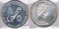 BERMUDA DOLLAR 1972 PLATA SILVER Za - Bermudas