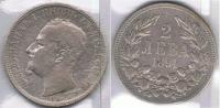 BULGARIA 2 LEBA 1891 PLATA SILVER Za - Bulgaria