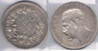 BULGARIA 5 LEBA 1892 PLATA SILVER Za BONITA - Bulgaria