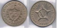 CUBA 5 CENTAVOS PESO 1920 PLATA SILVER Za - Cuba