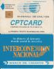 PERU - Telecom Logo, CPT First Issue 80 Units(matt Surface, Reverse A-Banco Di Credito), Chip GEM1, Used - Peru