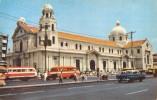 """02395 """"QUIAPO CHURCH - MANILA""""  BASILICA DEL NAZARENO NERO, ANIMATA, AUTO, TORPEDONI.  CART.  NON SPED. - Filippine"""