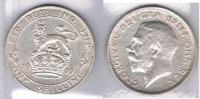 R.U. INGLATERRA JORGE V SCHILLING 1915 PLATA SILVER Za - I. 1 Shilling