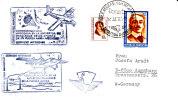 Argentinien 1979  Brief Mit 4 Schmuckstempeln Aus Der Antarktis In Die BRD - Polar Flights