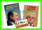 ADVERTISING - PUBLICITÉ - POSTE DE RADIO BFM 96.4 - JACQUES CHIRAC & LIONEL JOSPIN - - Publicité
