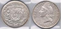 REPUBLICA DOMINICANA PESO 1952 PLATA SILVER Za - Dominicaine
