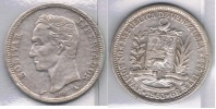 VENEZUELA BOLIVAR 1960 PLATA SILVER Za3 - Turquia