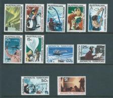 Australian Antarctic Territory 1966 Definitive Scenes Set 11 MNH - Unused Stamps