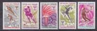 N° 1743 à 1747 Jeux Olympique D´Hiver à Grenoble  : Série De 1 Timbre Neuf Avec Charnière - Unused Stamps