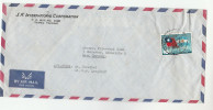 Air Mail TAIWAN FLAG Stamps COVER To Germany China - 1945-... Republic Of China