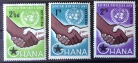 Ghana - MH* - 1958 -  Sc # 36/38 - Ghana (1957-...)