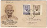INDIA - 1948 - Mahatma Gandhi - First Anniversary Indian Independence 15 August 1948 - Bombay - FDC - Viaggiata Da Bo... - Mahatma Gandhi