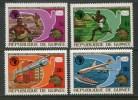 Guinea 1974 UPU Universal Postal Union UPAF Carrier Pigeon Mail Trucks Transport Stamps MNH SC 672-675 Michel 700-703 - Trucks