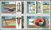 Germany DDR 1980 - One Block Of 4  Geophysics Geology Sciences Stamps MNH Michel 2557-2560 - Geology