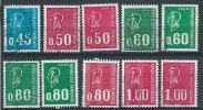 Francia 1971 Usato - Mi.1738;1736x+y;1888x+y;A1888x+y;1889;1985x+y