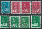 Francia 1971 Usato - Mi.1738;1736x+y;A1888x+y;1889;1984x+y