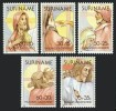 Surinam 1981 Easter Scenes Passion Of Christ Religions Christianity Art Stamps MNH SC B279-B283 Michel 938-942 - Easter