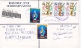 Kuwait com.Registr.cover 2002,franked Liberation complete set of 3v. + 2 commemo. verso date- fine conditi