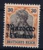DP In Marokko. Mi Nr 39 MH/*, Mit Falz, Avec Charnière - Deutsche Post In Marokko