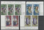 Lot DDR Michel No. 2126 , 2128 , 2129 , 2130 ** postfrisch DV Druckvermerk