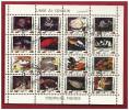 Bloc Feuillet 16 Timbres Mini-feuille Oblitéré Animaux Poissons Tropicaux UMM AL QIWAIN 1973 Emirats Arabes Unis  FISHES - Peces