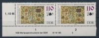 DDR Michel No. 3343 ** postfrisch DV Druckvermerk senkrecht angetrennt