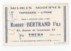 Buvard Usagé , Tapisserie Literie Robert BERTRAND , TOURS - Unclassified